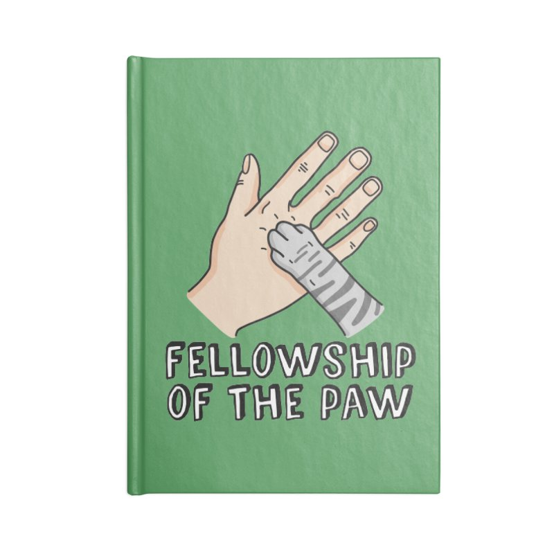 Fellowship of the Paw Accessories Lined Journal Notebook by Beards and Cats Store