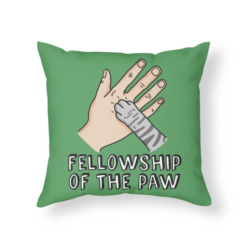 Fellowship of the Paw Home Throw Pillow by Beards and Cats Store