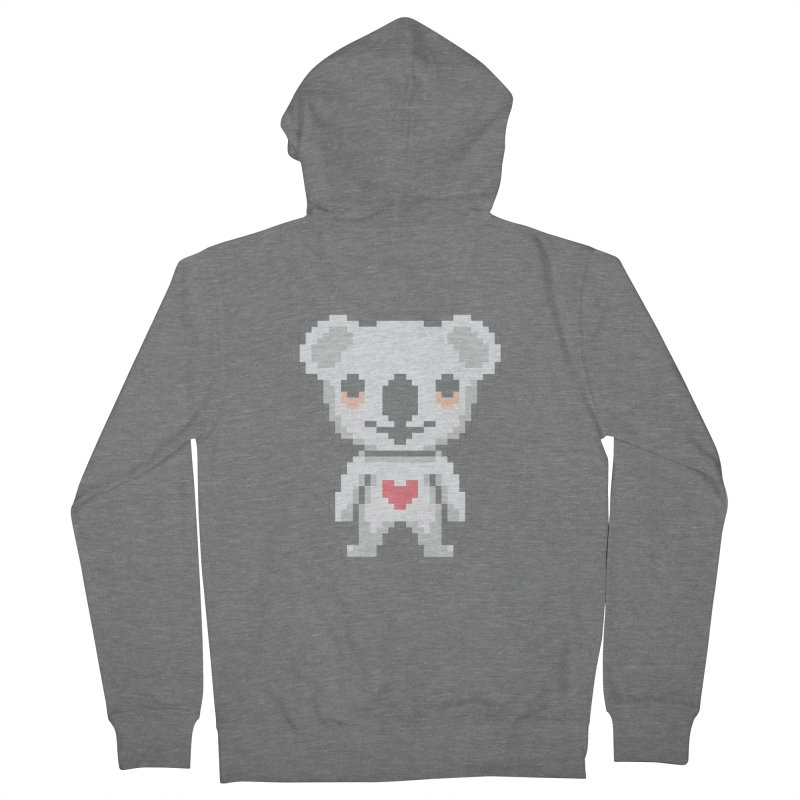 Pixel Koala Men's Zip-Up Hoody by Bearhugs For Australia