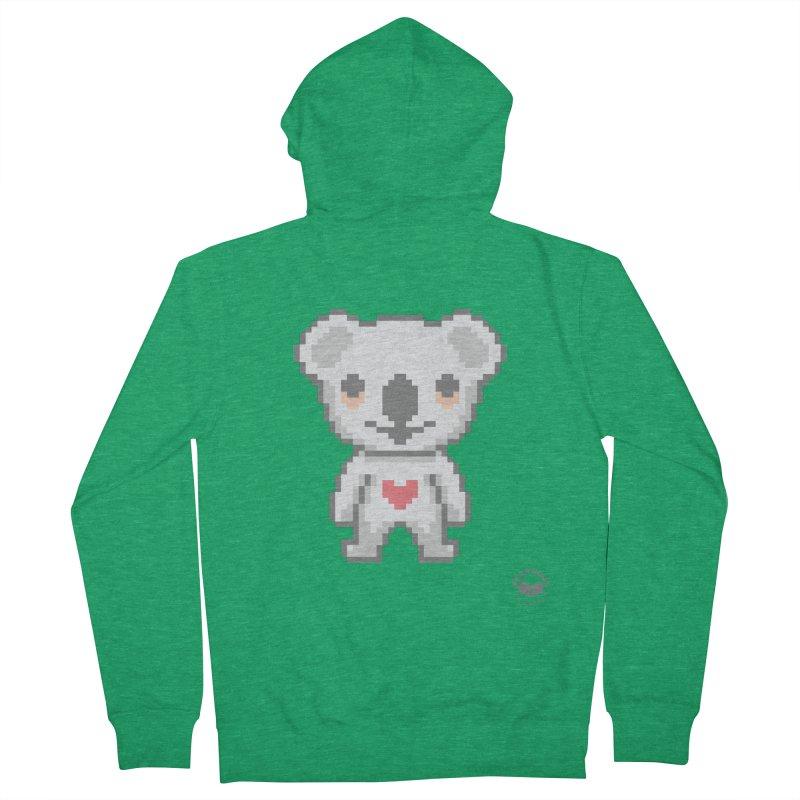 Pixel Koala Men's Zip-Up Hoody by Bearhugs For Australia