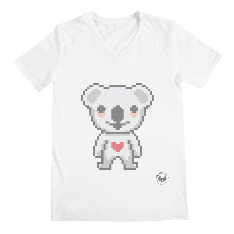 Pixel Koala Men's V-Neck by Bearhugs For Australia