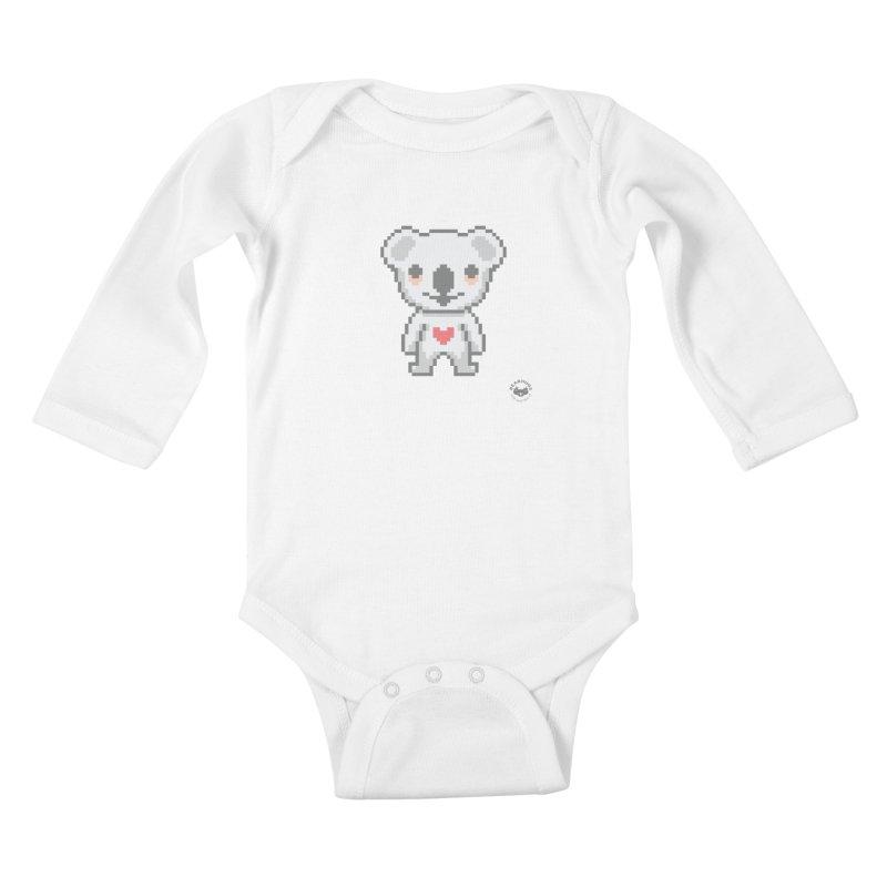 Pixel Koala Kids Baby Longsleeve Bodysuit by Bearhugs For Australia