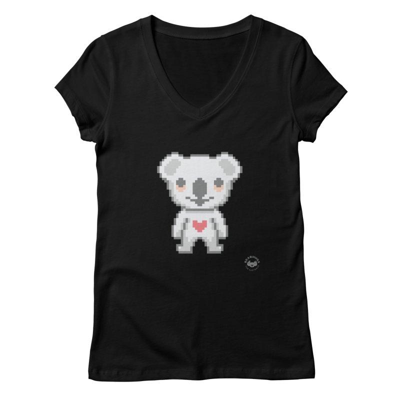 Pixel Koala Women's V-Neck by Bearhugs For Australia