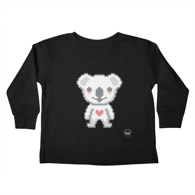 Pixel Koala Kids Toddler Longsleeve T-Shirt by Bearhugs For Australia