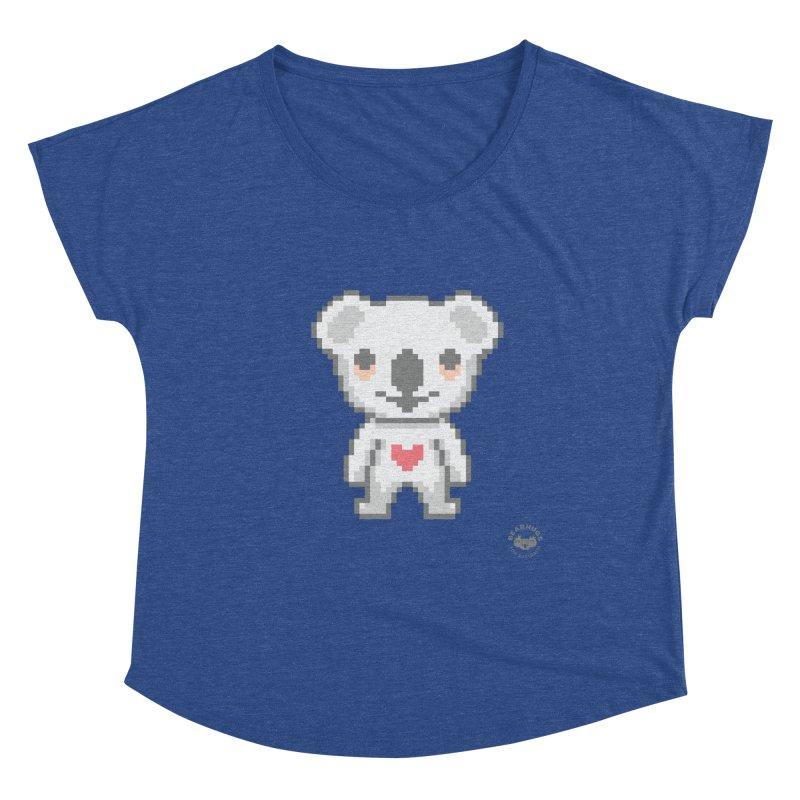 Pixel Koala Women's Scoop Neck by Bearhugs For Australia