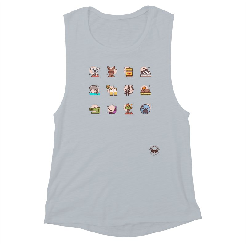Aussie Icons Women's Tank by Bearhugs For Australia
