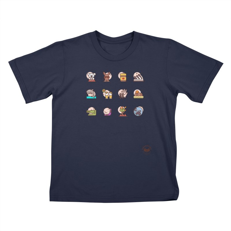 Aussie Icons Kids T-Shirt by Bearhugs For Australia