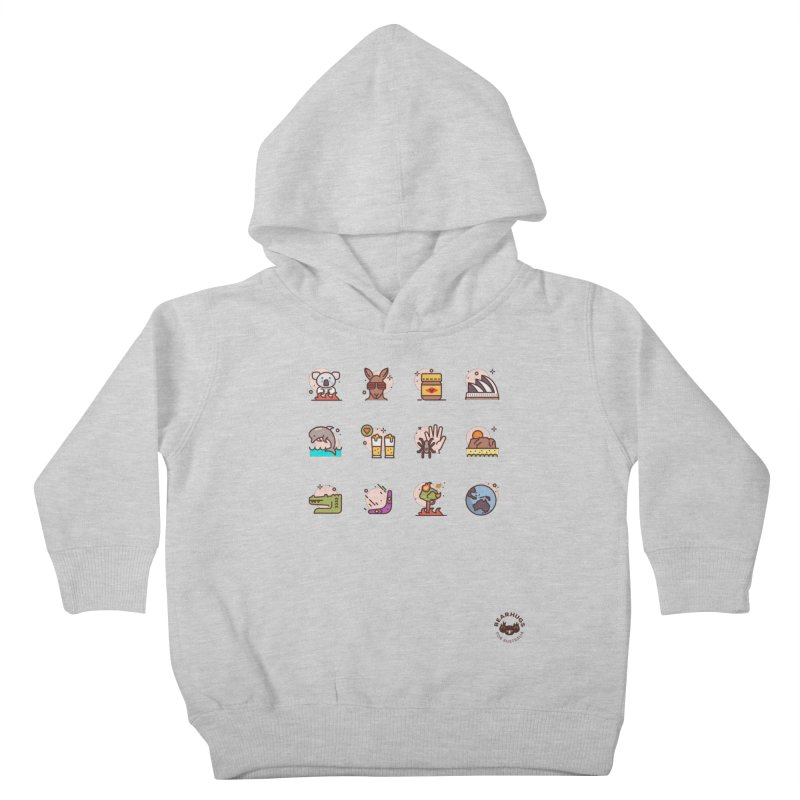 Aussie Icons Kids Toddler Pullover Hoody by Bearhugs For Australia