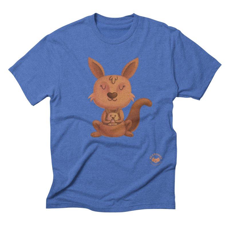 Kangaroo & Joey Men's T-Shirt by Bearhugs For Australia
