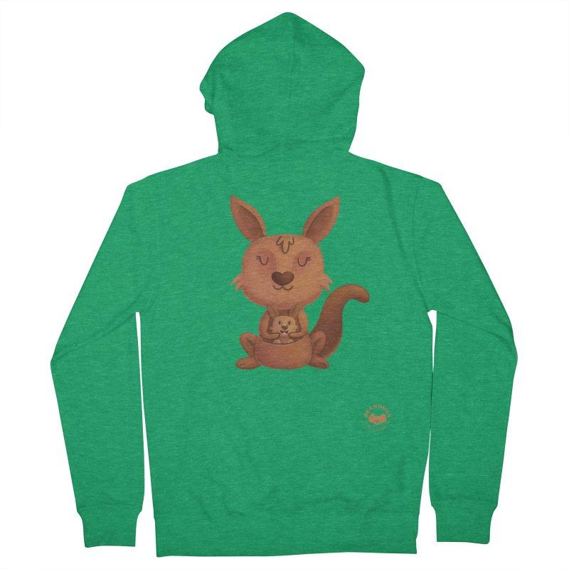 Kangaroo & Joey Men's Zip-Up Hoody by Bearhugs For Australia