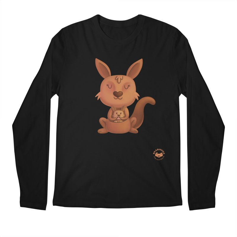 Kangaroo & Joey Men's Longsleeve T-Shirt by Bearhugs For Australia