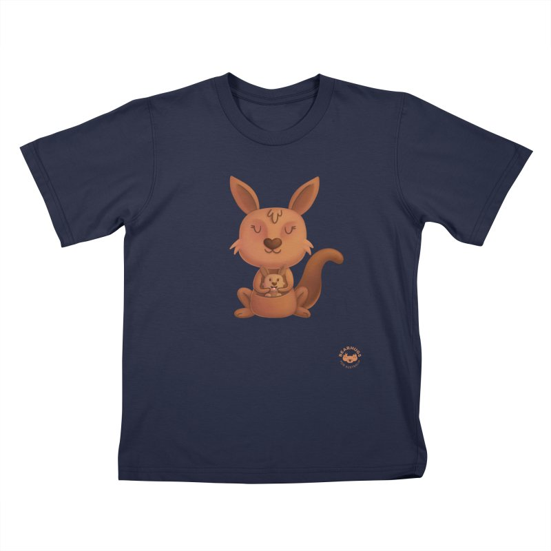 Kangaroo & Joey Kids T-Shirt by Bearhugs For Australia