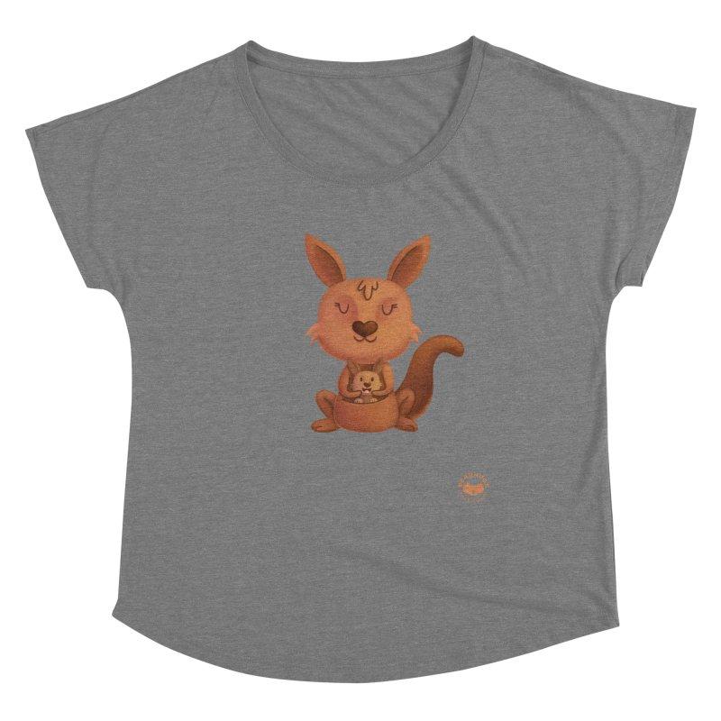 Kangaroo & Joey Women's Scoop Neck by Bearhugs For Australia