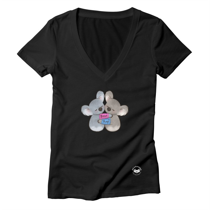 Little Bear Hugs Women's V-Neck by Bearhugs For Australia