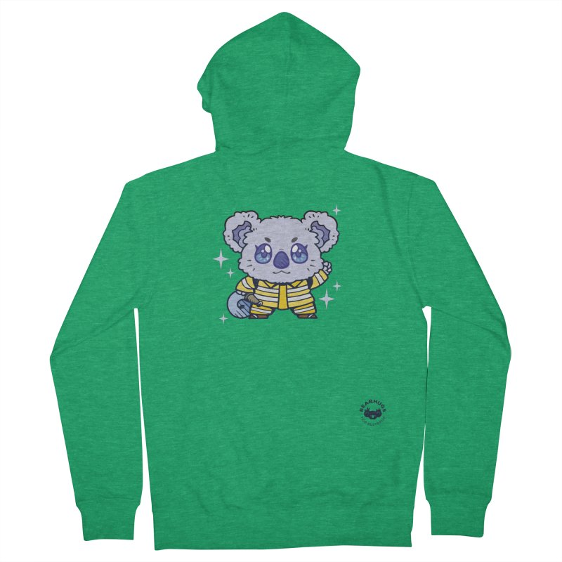 Australian Firefighter Koala Men's Zip-Up Hoody by Bearhugs For Australia