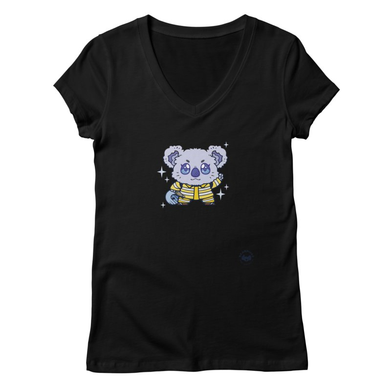 Australian Firefighter Koala Women's V-Neck by Bearhugs For Australia