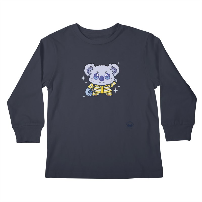 Australian Firefighter Koala Kids Longsleeve T-Shirt by Bearhugs For Australia