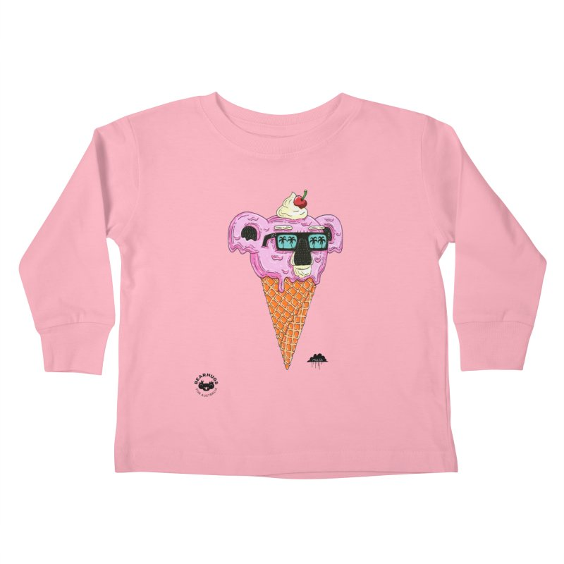 Mulga Icecream Koala Kids Toddler Longsleeve T-Shirt by Bearhugs For Australia