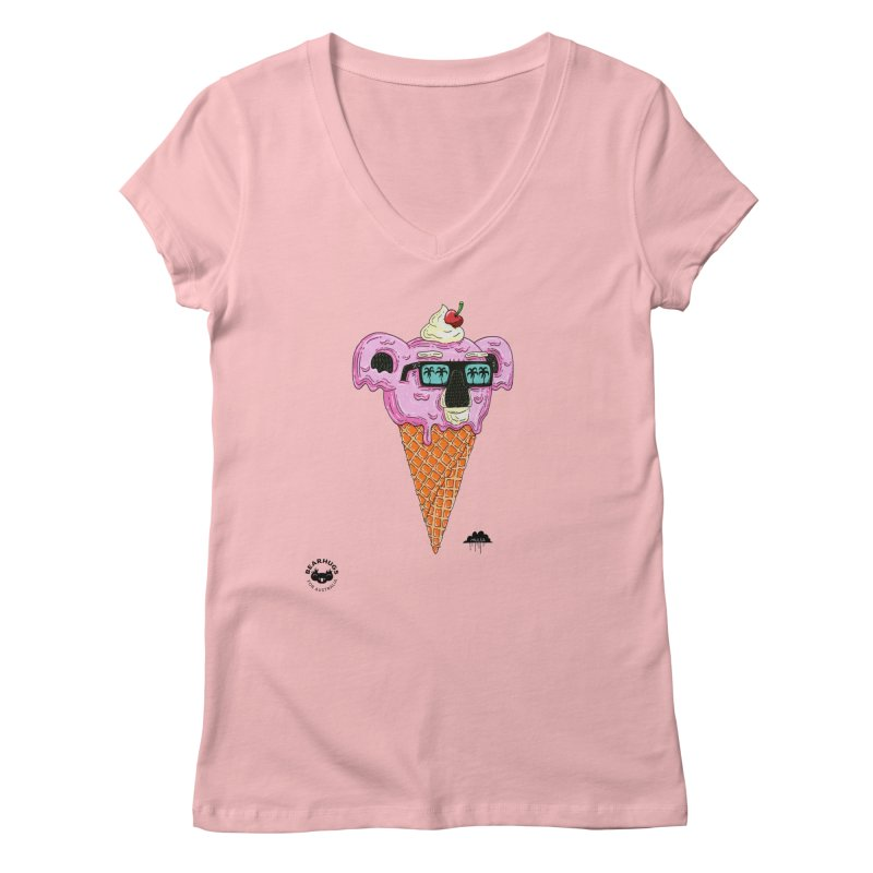 Mulga Icecream Koala Women's V-Neck by Bearhugs For Australia