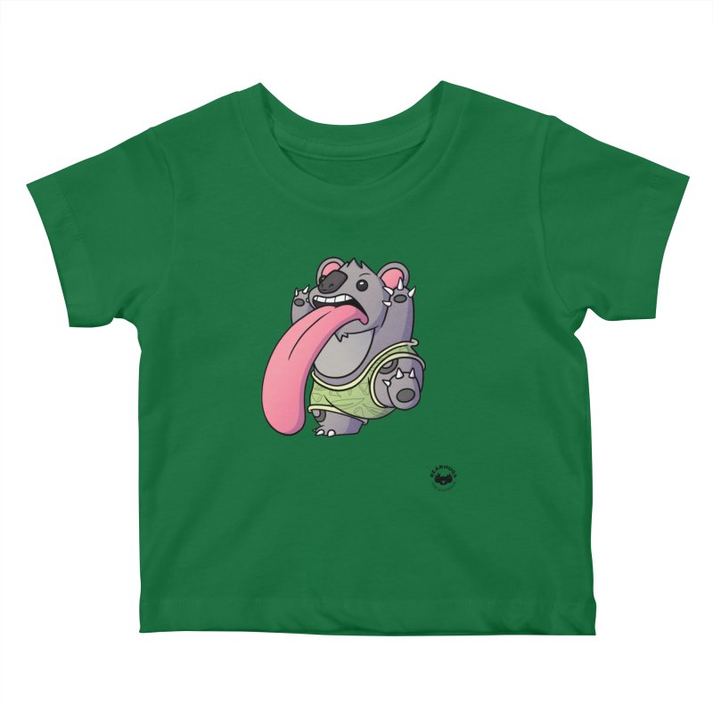 Koala Tongue Kids Baby T-Shirt by Bearhugs For Australia