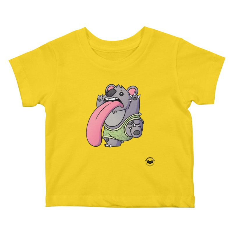 Koala Tongue Kids Baby T-Shirt by Bearhugs For Australia