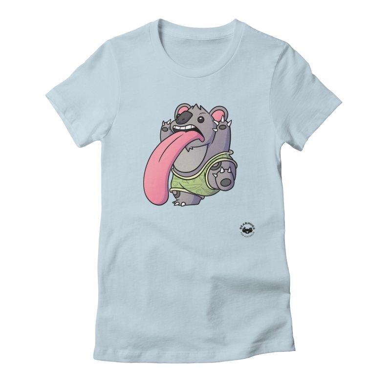 Koala Tongue Women's T-Shirt by Bearhugs For Australia