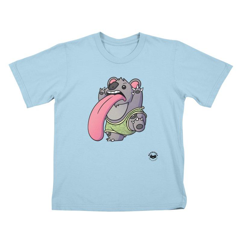 Koala Tongue Kids T-Shirt by Bearhugs For Australia