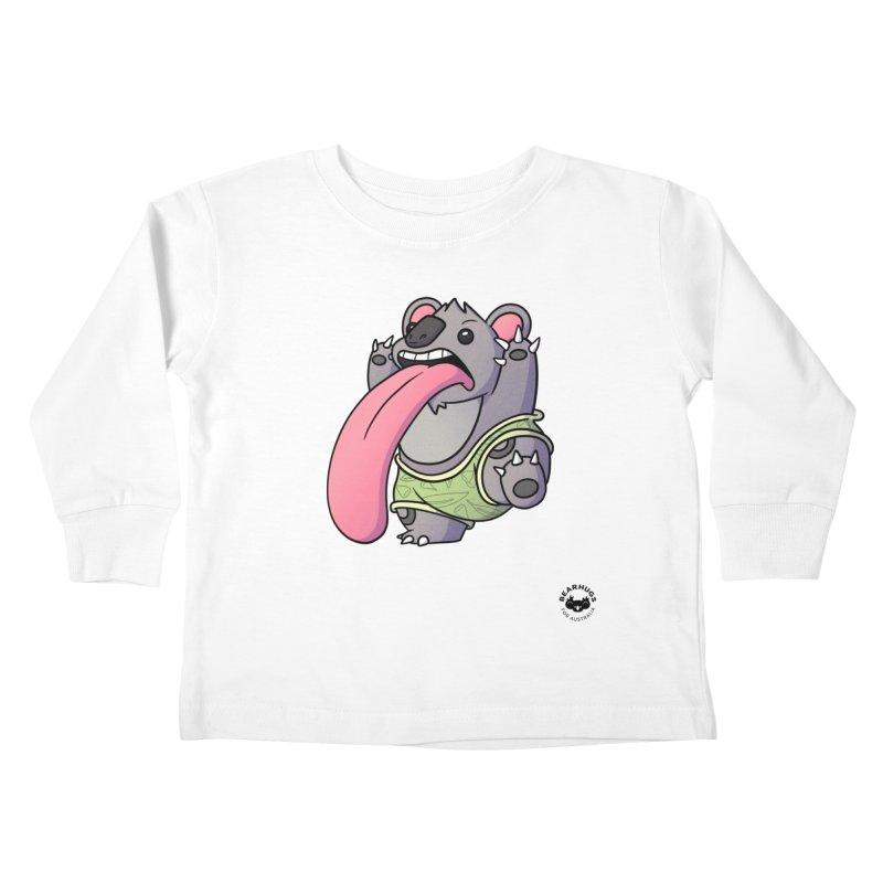 Koala Tongue Kids Toddler Longsleeve T-Shirt by Bearhugs For Australia