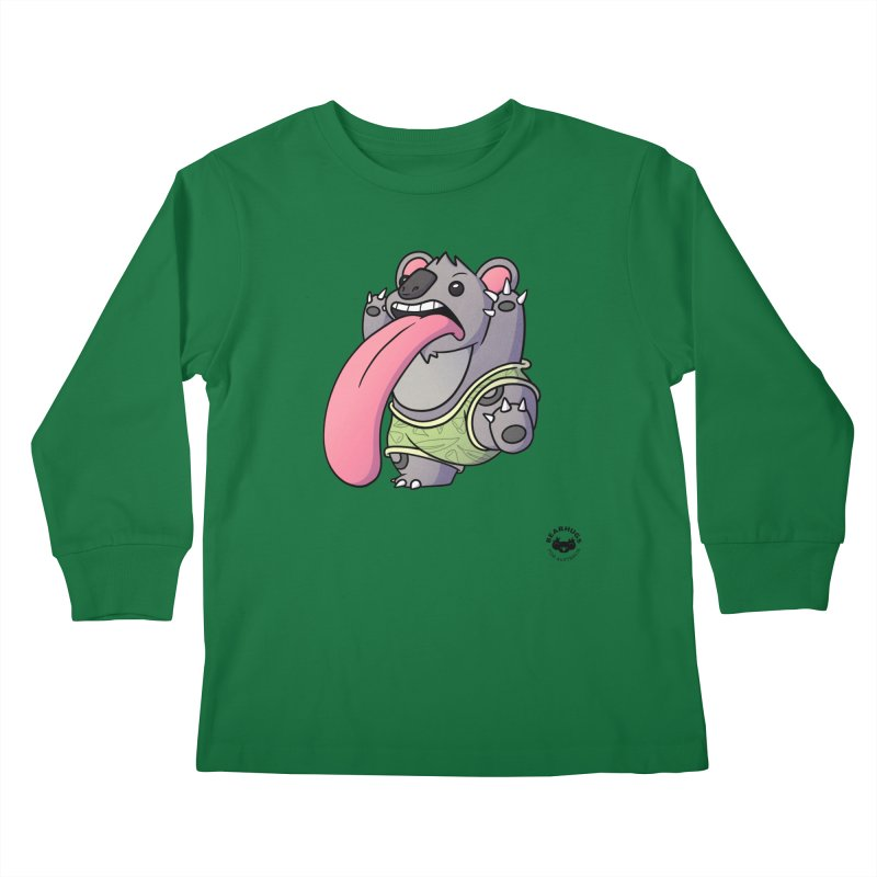 Koala Tongue Kids Longsleeve T-Shirt by Bearhugs For Australia