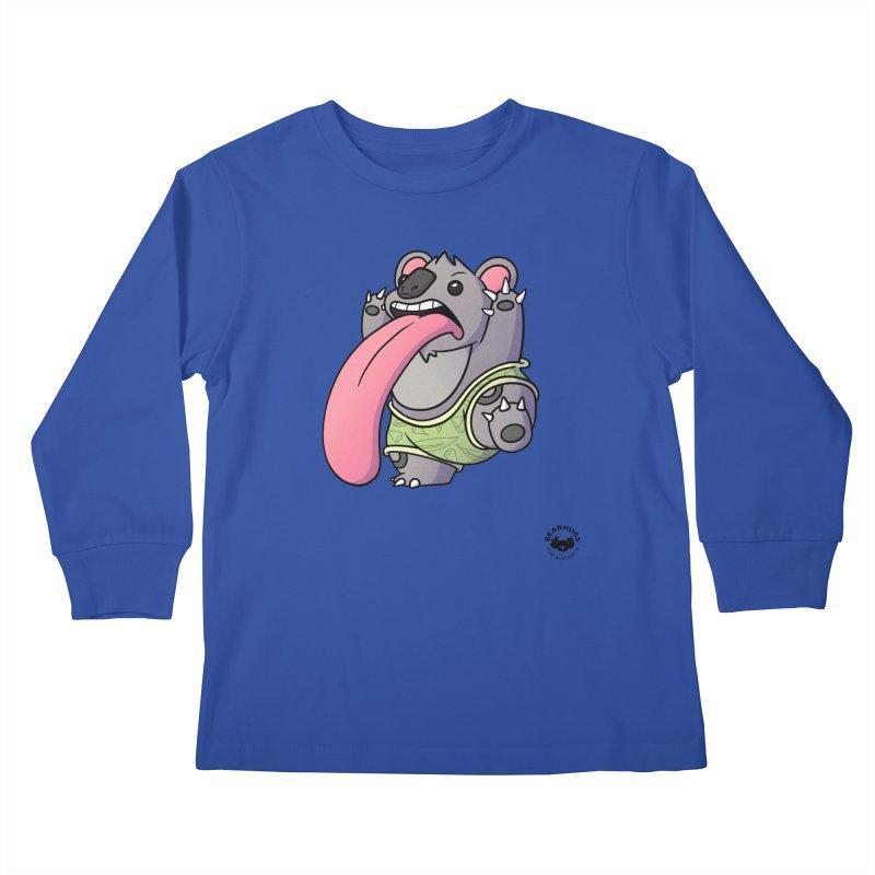 Koala Tongue Kids Longsleeve T-Shirt by Bearhugs For Australia