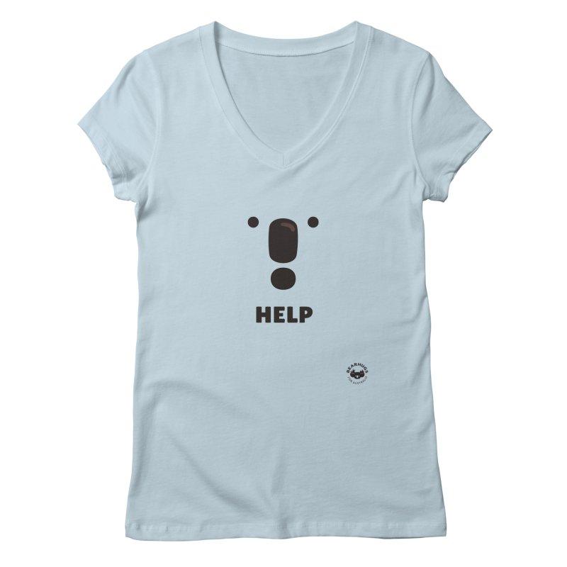 Koala Help! Women's V-Neck by Bearhugs For Australia