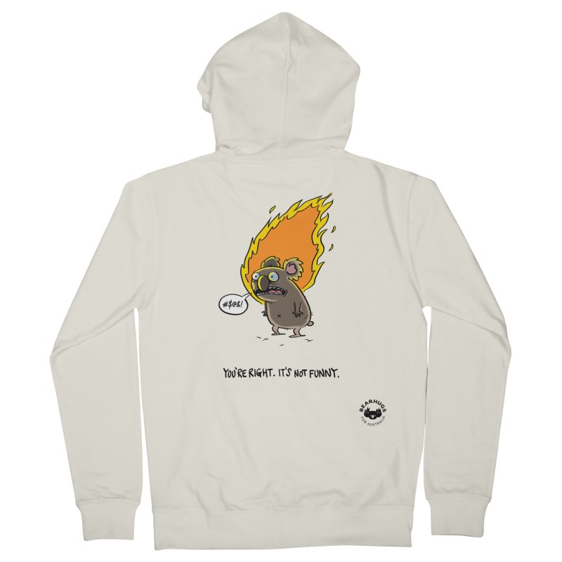 You're Right. Its Not Funny. Men's Zip-Up Hoody by Bearhugs For Australia