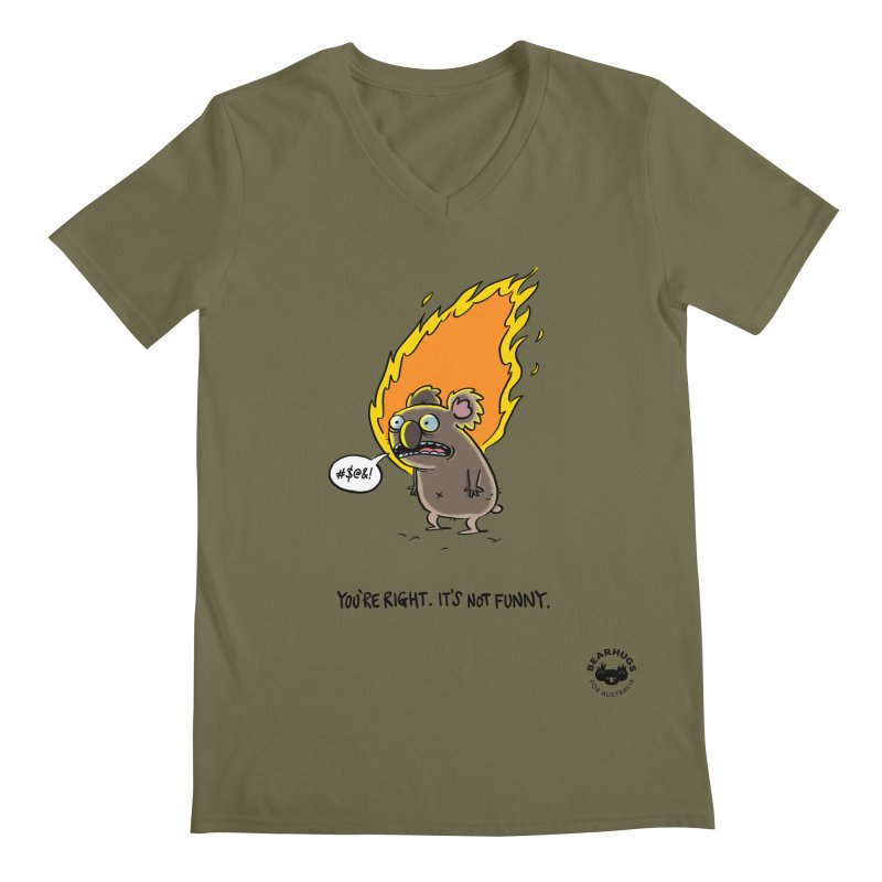 You're Right. Its Not Funny. Men's V-Neck by Bearhugs For Australia