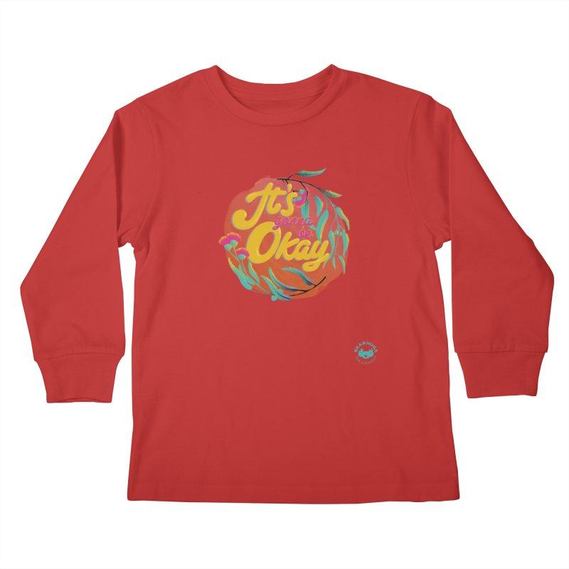 It's Gonna Be Okay Kids Longsleeve T-Shirt by Bearhugs For Australia