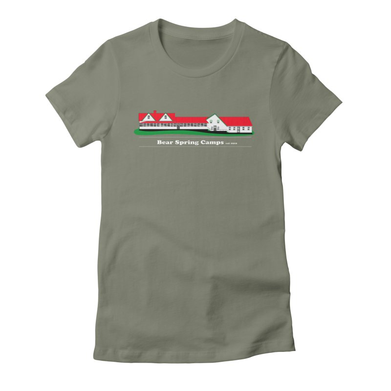 BSC Logo white lettering Women's Fitted T-Shirt by Bear Spring Camps