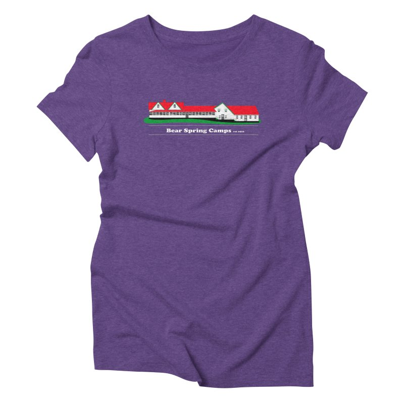 BSC Logo white lettering Women's Triblend T-Shirt by Bear Spring Camps