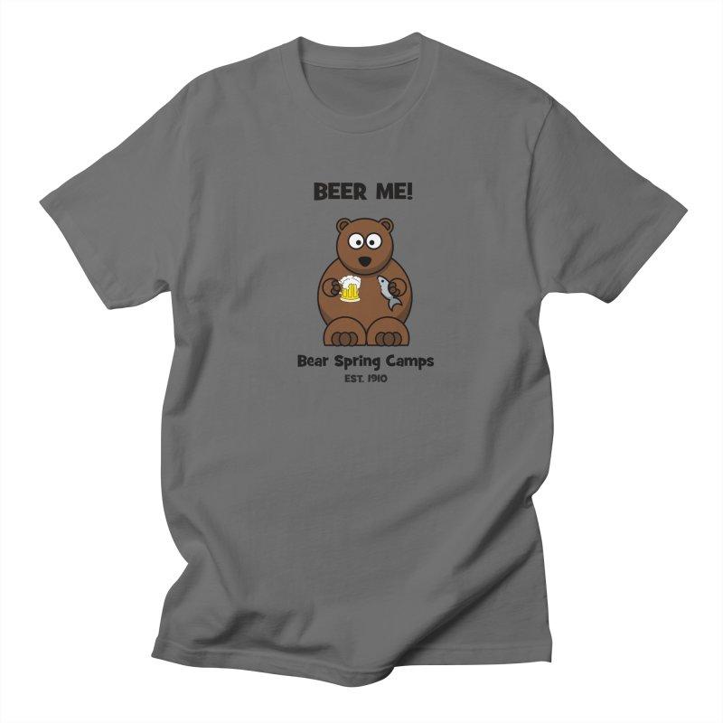 BEER ME in Men's Regular T-Shirt Asphalt by Bear Spring Camps