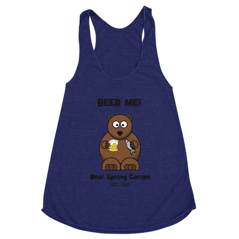 BEER ME Women's Racerback Triblend Tank by Bear Spring Camps