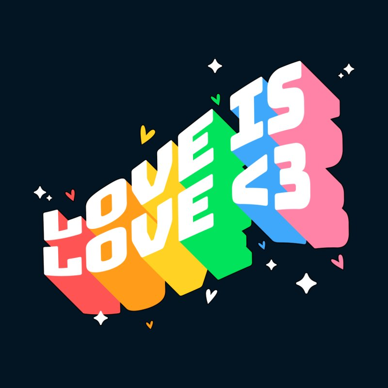 Love is Love - Rainbow Edition Men's T-Shirt by Bears Wear Clothes