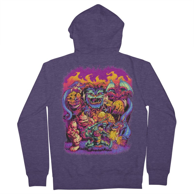 GHOSTS 'N' GOBLINS Men's Zip-Up Hoody by Beastwreck