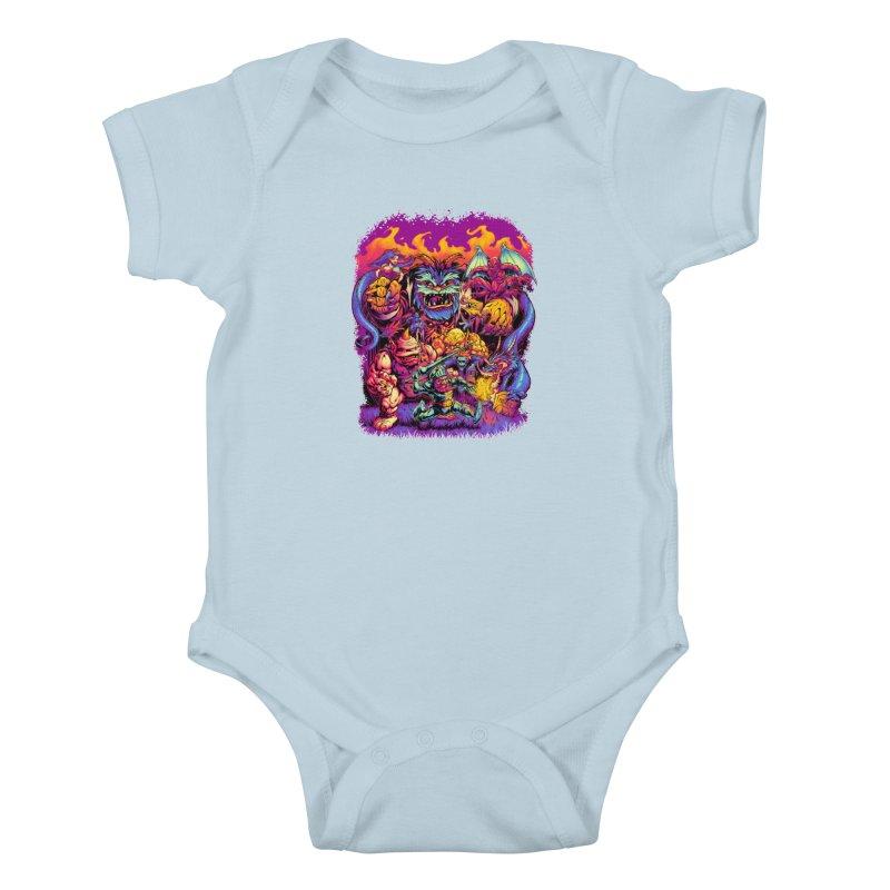 GHOSTS 'N' GOBLINS Kids Baby Bodysuit by Beastwreck
