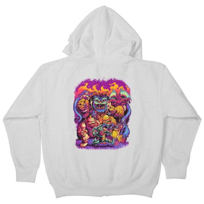 GHOSTS 'N' GOBLINS Kids Zip-Up Hoody by Beastwreck