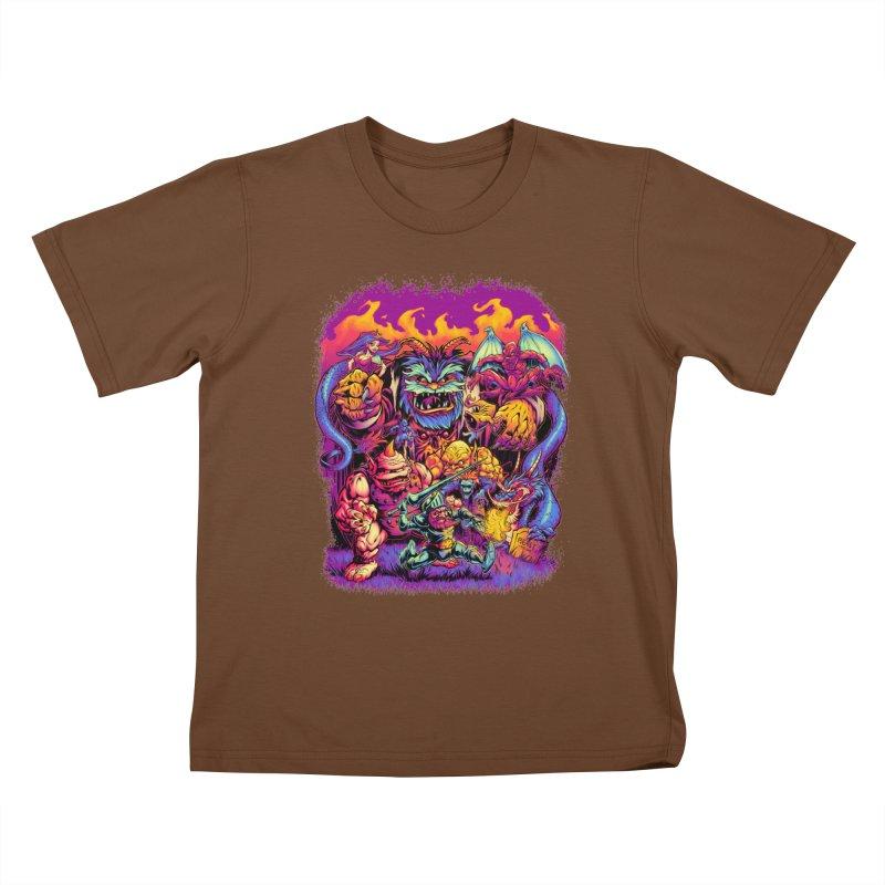 GHOSTS 'N' GOBLINS Kids T-Shirt by Beastwreck