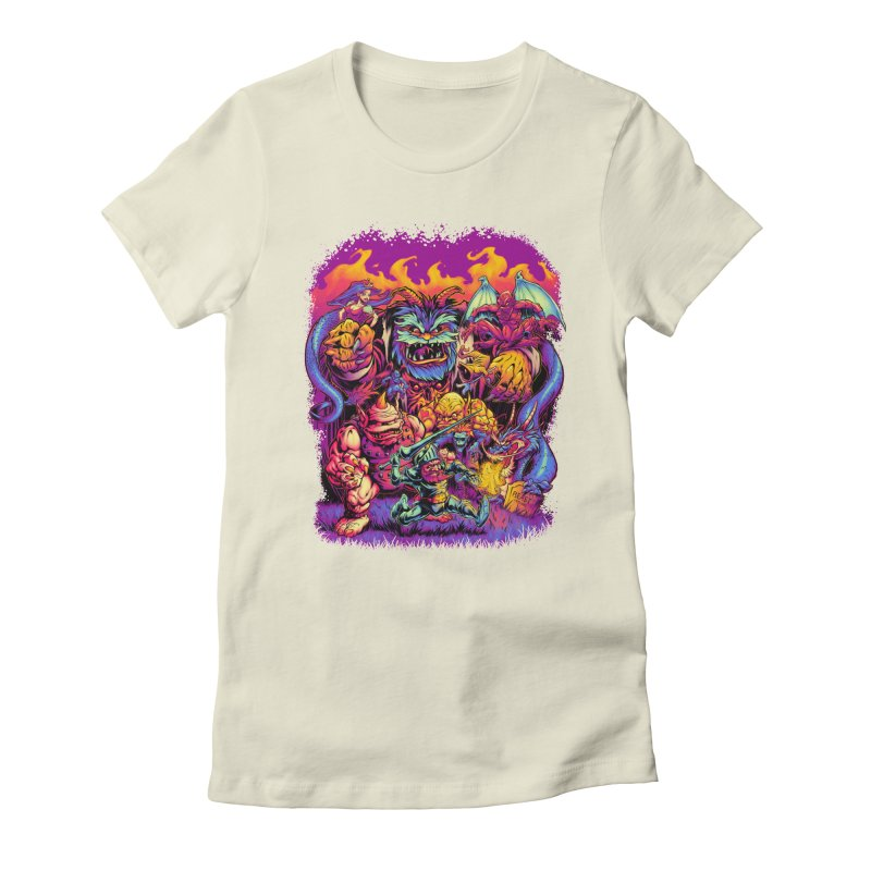 GHOSTS 'N' GOBLINS Women's Fitted T-Shirt by Beastwreck