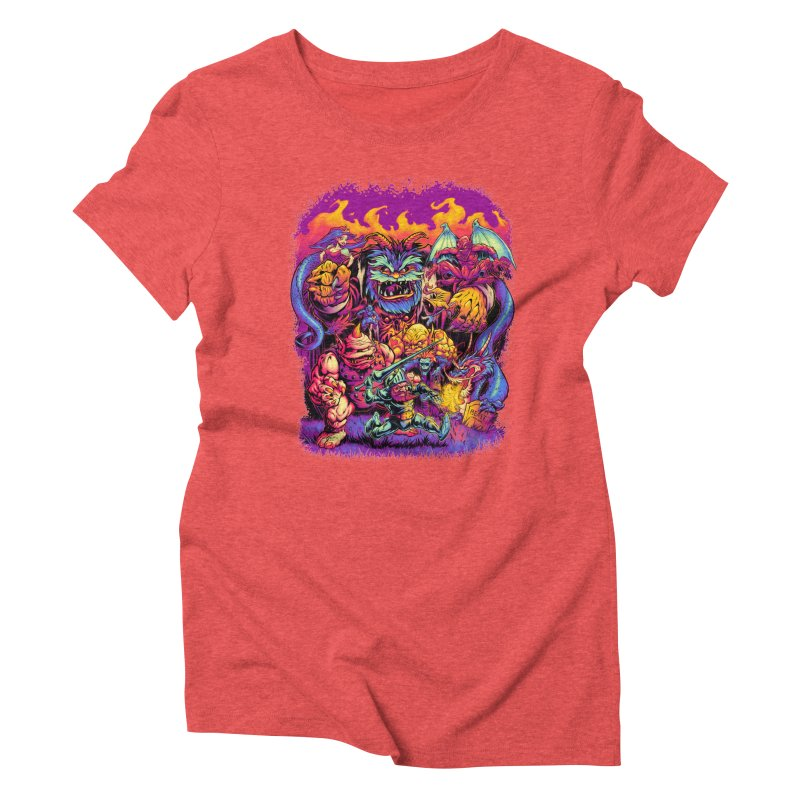 GHOSTS 'N' GOBLINS Women's Triblend T-Shirt by Beastwreck