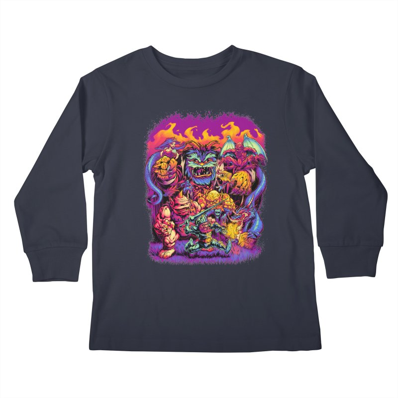 GHOSTS 'N' GOBLINS Kids Longsleeve T-Shirt by Beastwreck