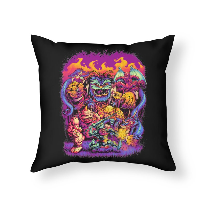 GHOSTS 'N' GOBLINS Home Throw Pillow by Beastwreck