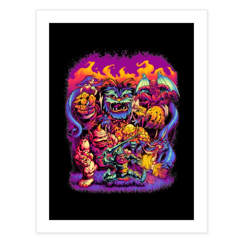 GHOSTS 'N' GOBLINS Home Fine Art Print by Beastwreck