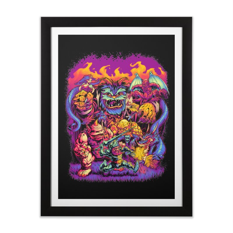 GHOSTS 'N' GOBLINS Home Framed Fine Art Print by Beastwreck