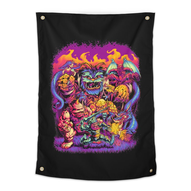 GHOSTS 'N' GOBLINS Home Tapestry by Beastwreck